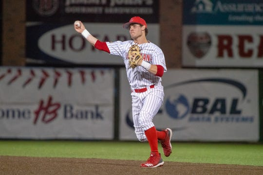 With Jonathan Brandon out with a broken leg, Connor Dupuy, shown here playing against Maryland last season could play a big role for UL at second base in 2020.