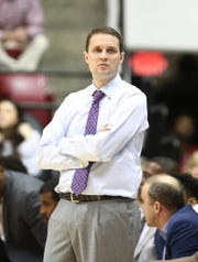 Mar 2, 2019; Tuscaloosa, AL, USA; LSU Tigers head coach Will Wade during the first half against Alabama Crimson Tide  at Coleman Coliseum. Mandatory Credit: Marvin Gentry-USA TODAY Sports