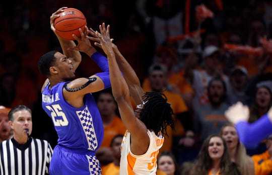 PJ Washington's hot streak ended against Tennessee, but the sophomore wasn't the only Kentucky player who went cold from the field.