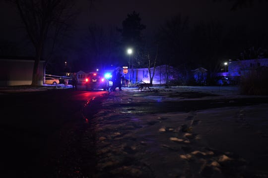 Police are the scene of an incident at a mobile home park off Willoughby Road in south Lansing.
