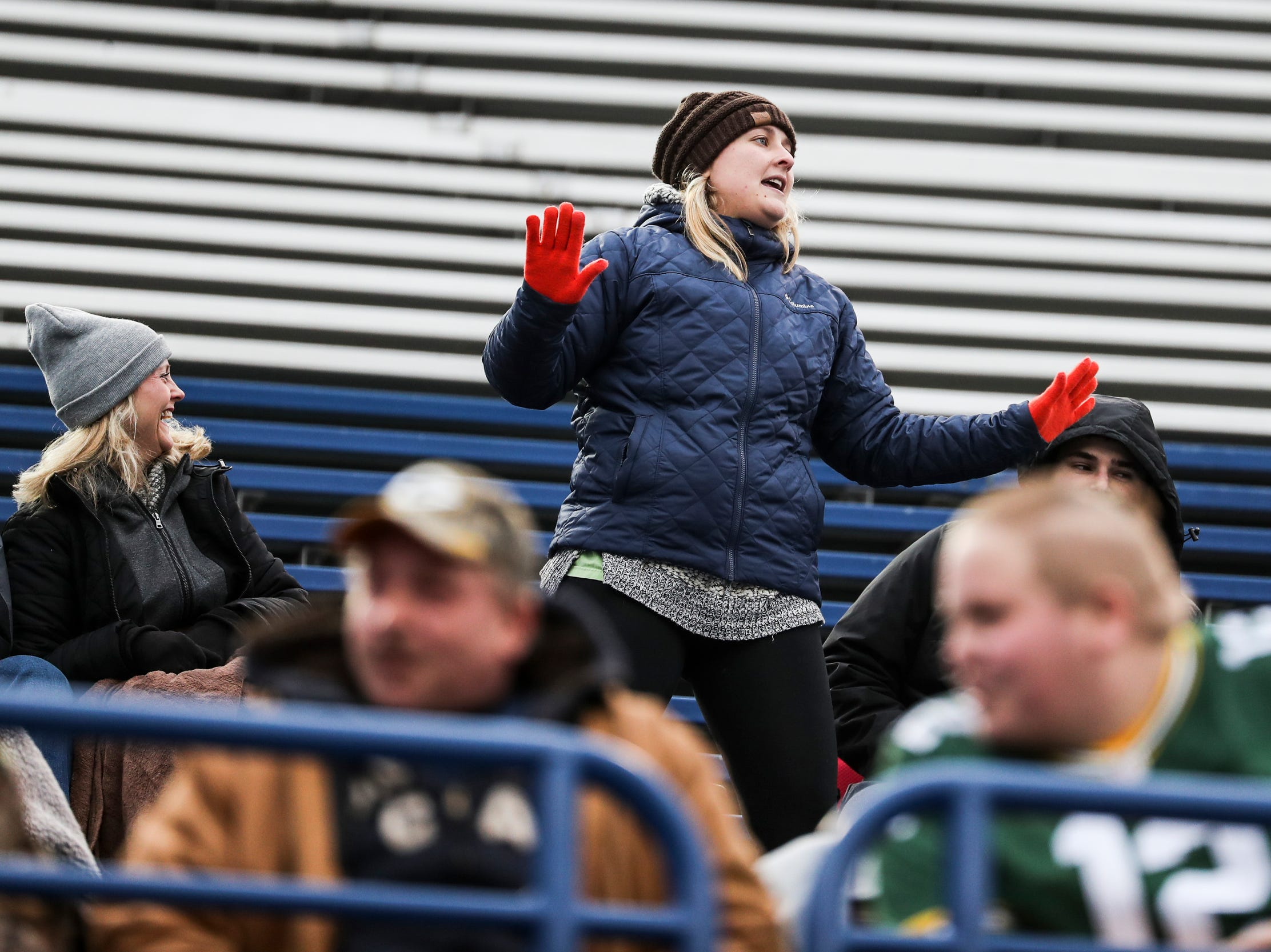 March 02, 2019 - A fan dances during Saturday's game against the San Diego Fleet.