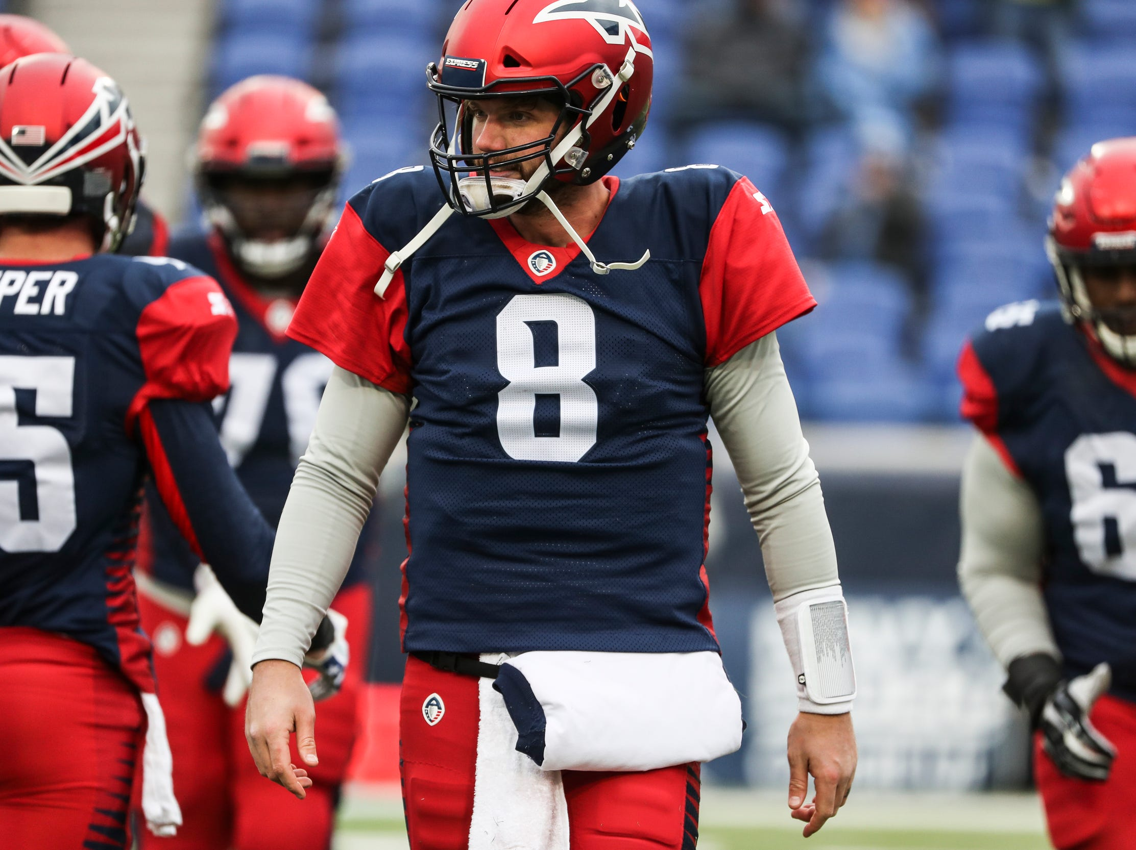 March 02, 2019 - Quarterback Zach Mettenberger is seen during Saturday's game against the San Diego Fleet.