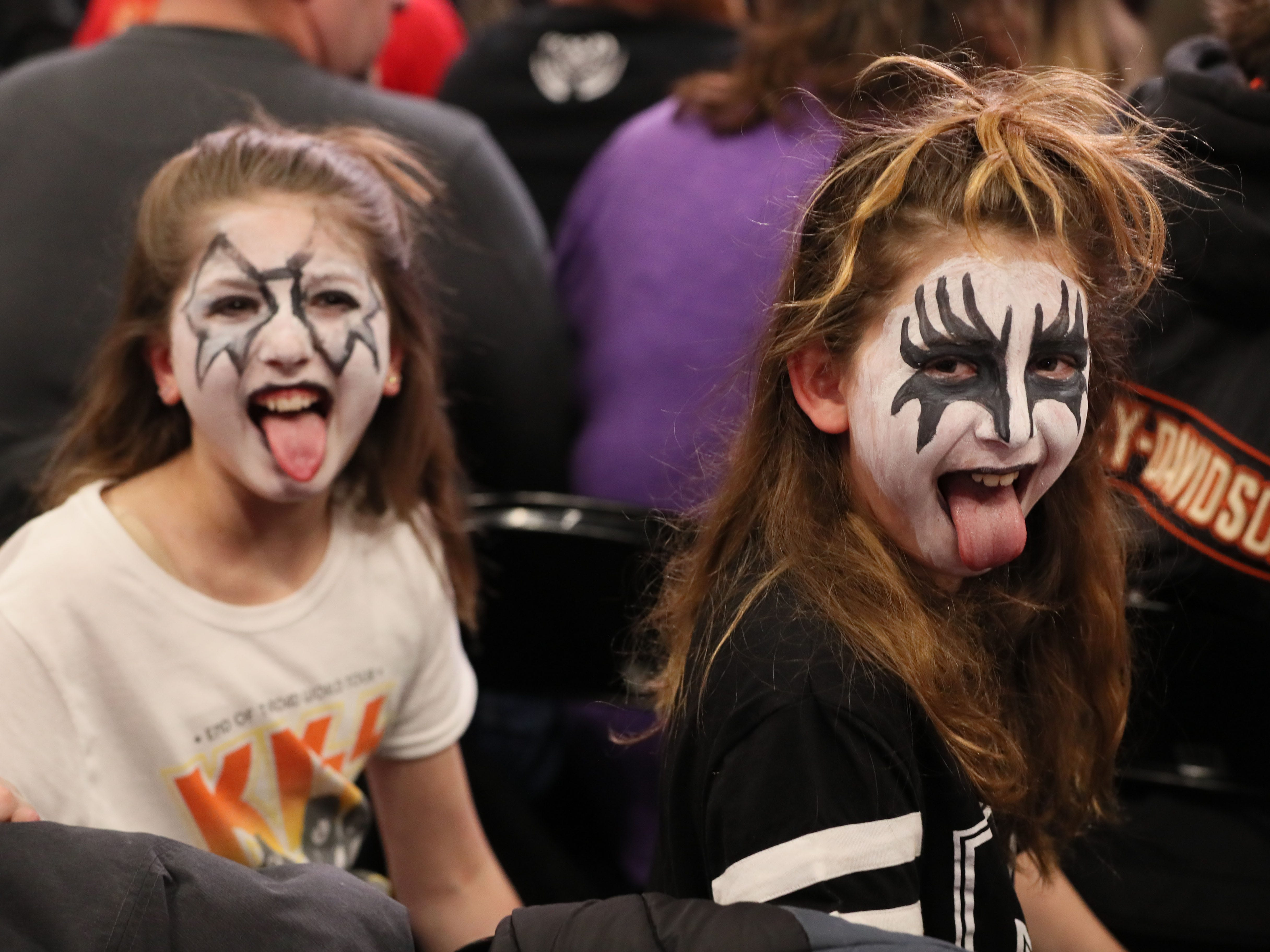Fans react before KISS performs March 1, 2019, at Fiserv Forum in Milwaukee.