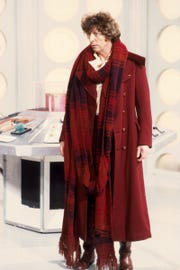 "Tom Baker plays Doctor Who, for the final time, in ""Logopolis."""