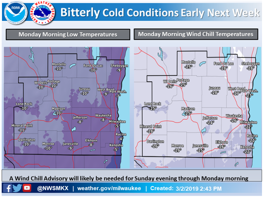 The National Weather Service is considering adding a wind chill advisory.