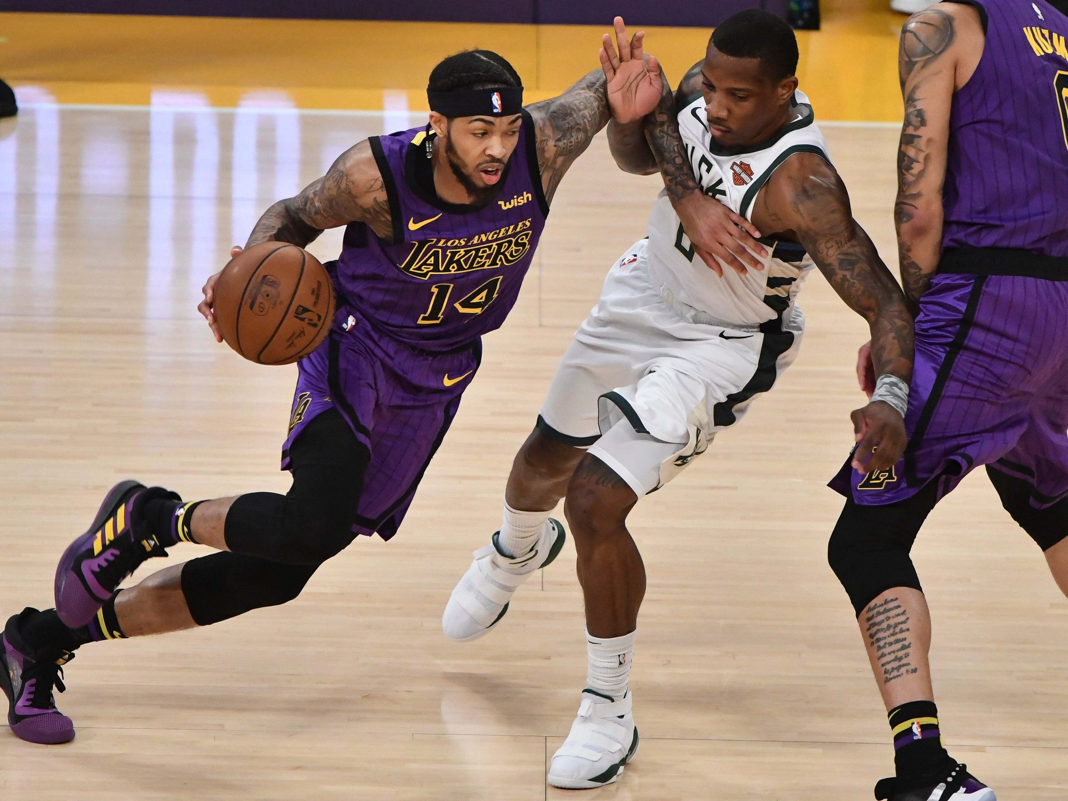 Brandon Ingram was a tough customer for the Bucks to deal with Friday night as he scored 31 points for the Lakers.