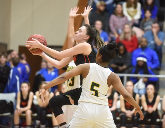 Viola's Sami McCandlis goes up for a layup against Wonderview on Friday at Brockwell.