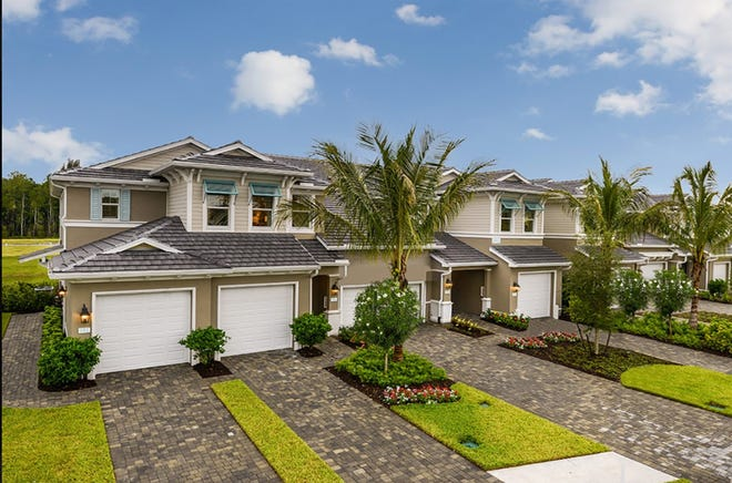 The multifamily homes planned for Seychelles on Santa Barbara Boulevard will be similar to these units that Neal Communities is building nearby in its Avalon of Naples development at Davis Boulevard and County Barn Road in East Naples.