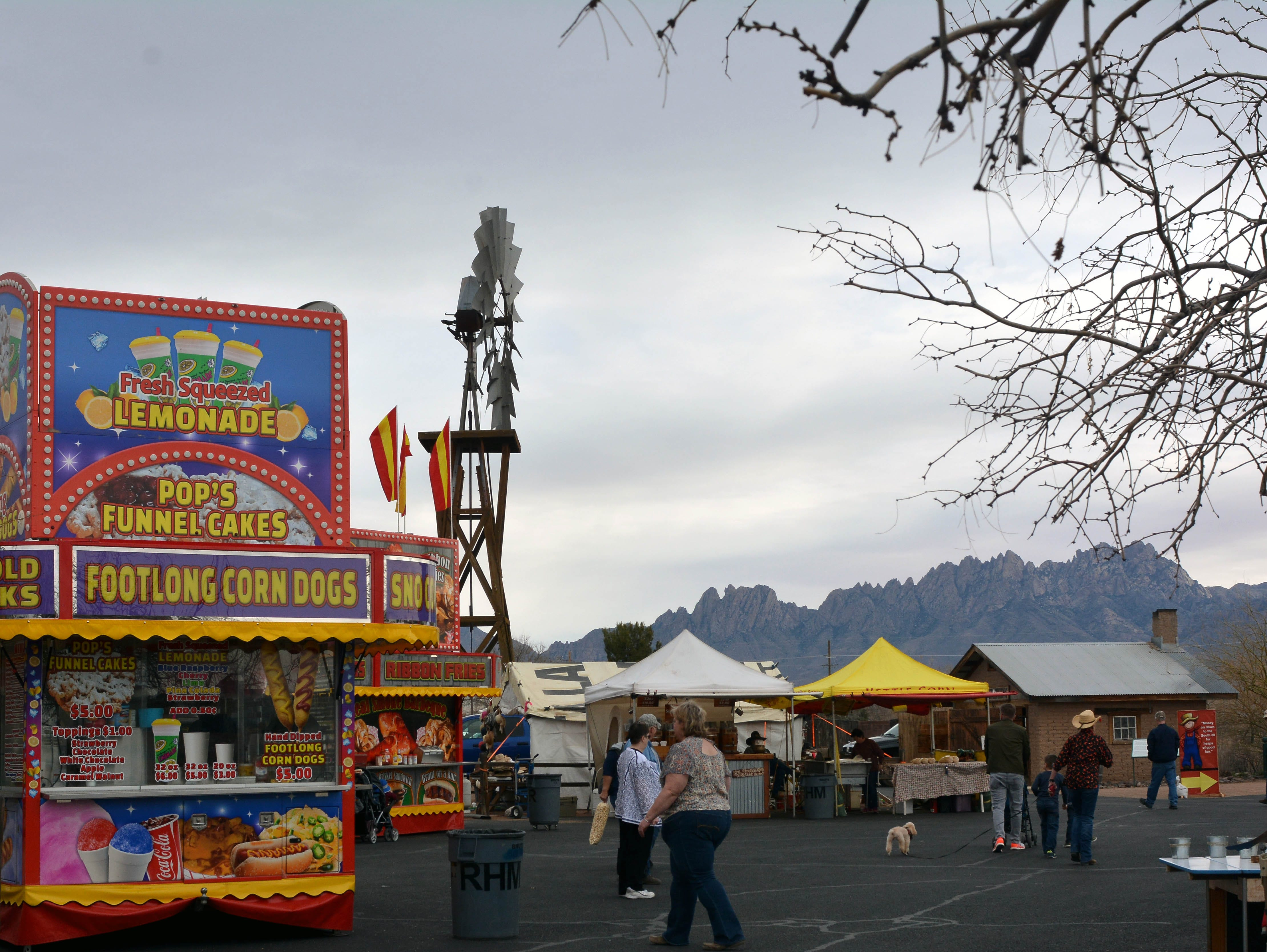 The Organ Mountains provide a perfect backdrop to the 20th annual Cowboy Days, held Saturday, March 2, 2019, at the New Mexico Farm and Ranch Heritage Museum.
