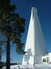 The Dunn Telescope at Sunspot, New Mexico, is being used by New Mexico State University researchers to investigate the composition of the planet Jupiter.