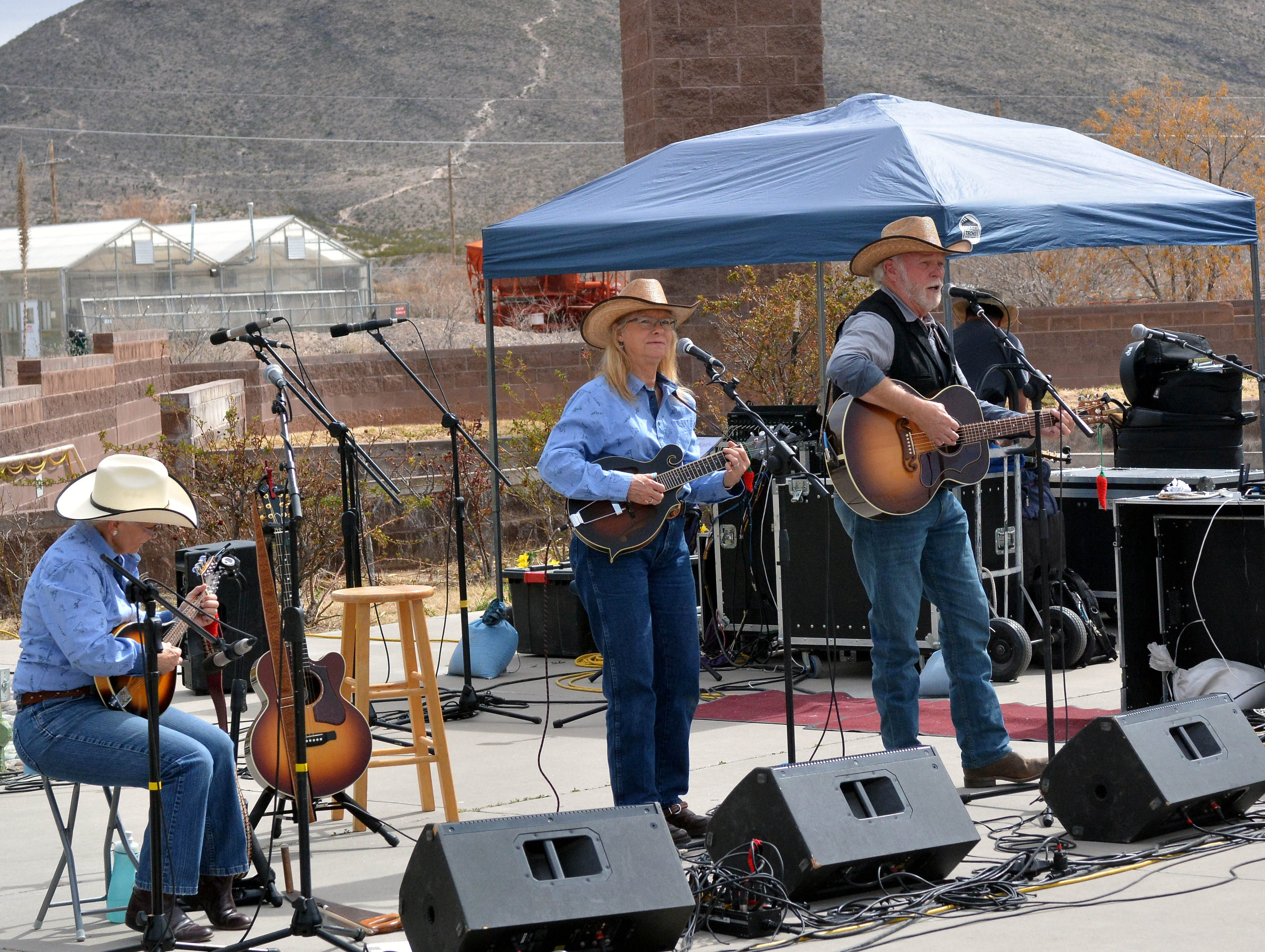 The Ramblin' Rangers from Deming,  provide musical entertainment during the 20th annual Cowboy Days, held Saturday, March 2, 2019, at the New Mexico Farm and Ranch Heritage Museum.