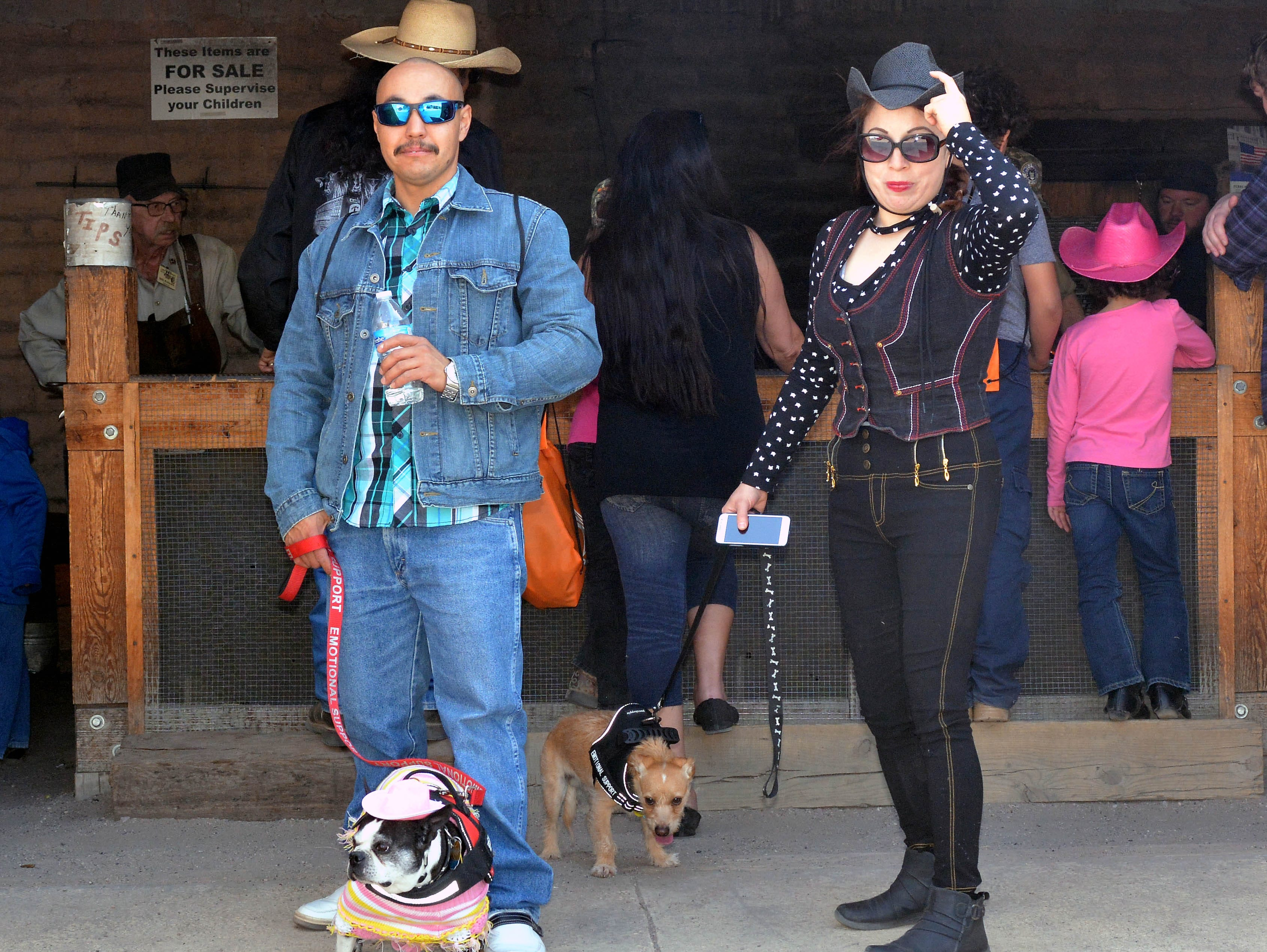 Luis Quintana, with Lola, and Priscilla Rodriguez, with Odie came out to enjoy the 20th annual Cowboy Days, held Saturday, March 2, 2019, at the New Mexico Farm and Ranch Heritage Museum.