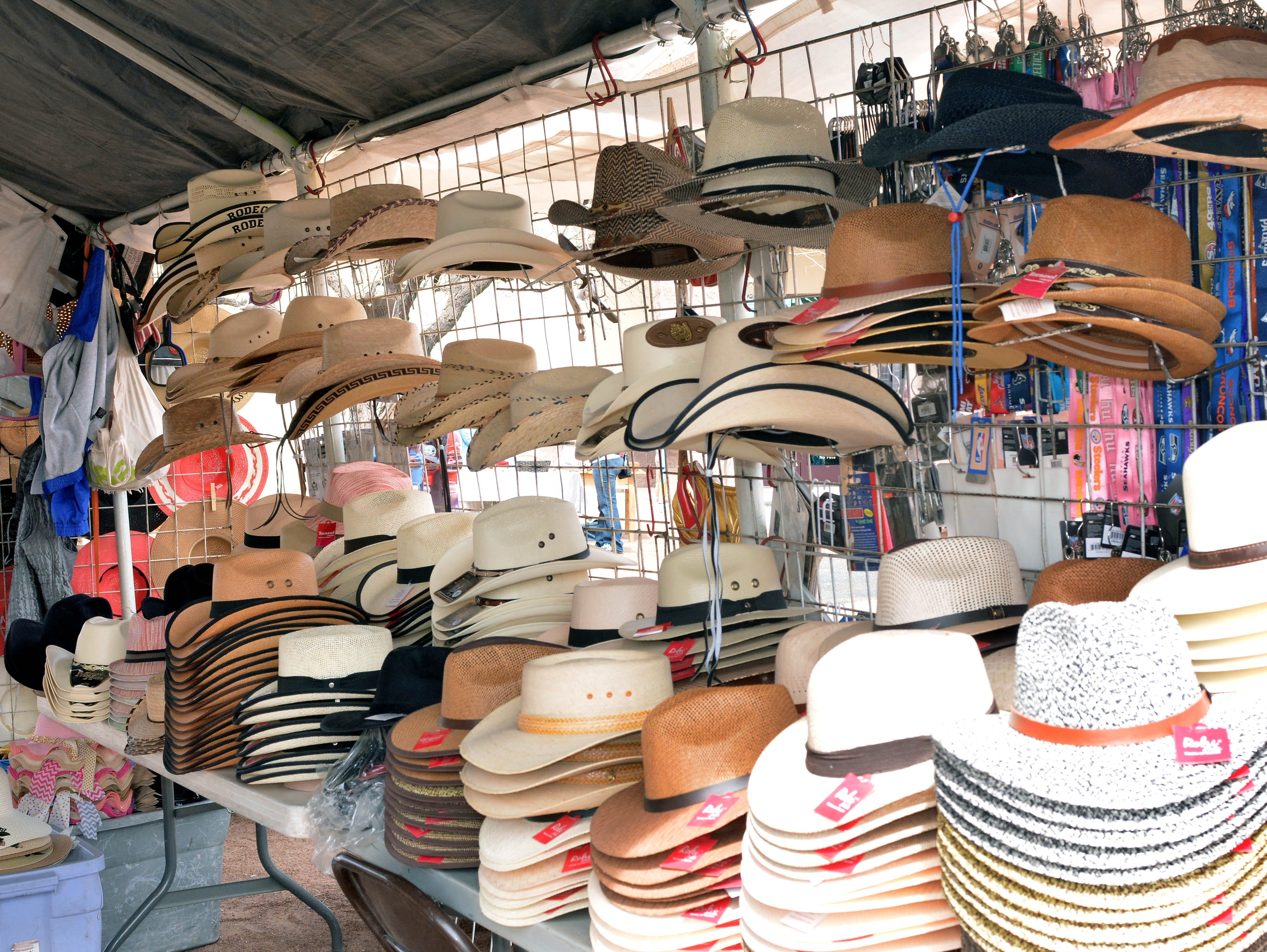 Need a cowboy hat? Plenty are for sale at the 20th annual Cowboy Days, held Saturday, March 2, 2019, at the New Mexico Farm and Ranch Heritage Museum.