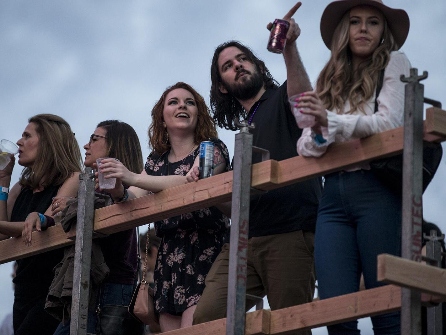 Fans listen to Mansionair perform during McDowell Mountain Music Festival on Friday, March 1, 2019, at Margaret T. Hance Park in Phoenix.