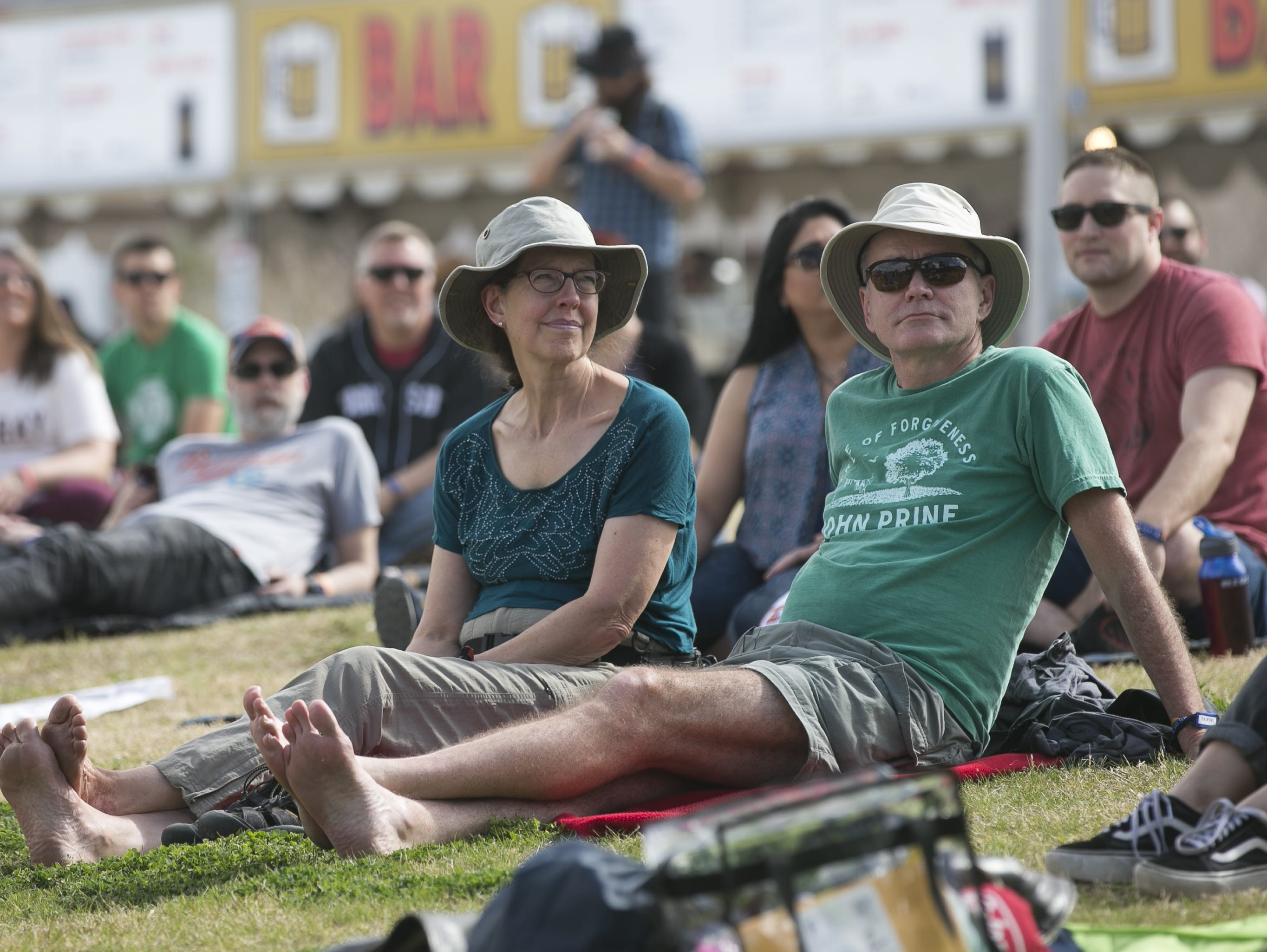 Beth Young (left) and Don Young (right) watch Dorothy perform at the Innings Festival at Tempe Beach Park on Saturday, March 2, 2019.