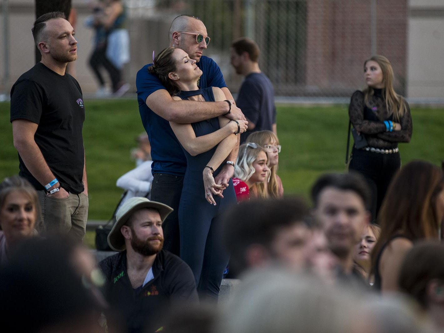 Fans listen to Mt. Joy perform during McDowell Mountain Music Festival on Friday, March 1, 2019, at Margaret T. Hance Park in Phoenix.