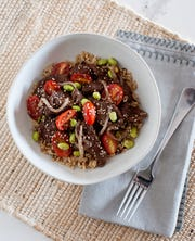The beef stir fry from Michelle Dudash.