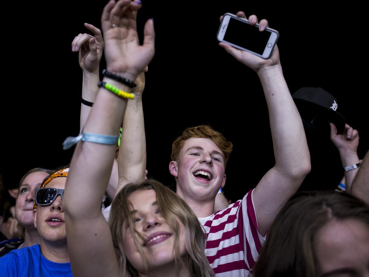Fans watch Odesza perform during McDowell Mountain Music Festival on Friday, March 1, 2019, at Margaret T. Hance Park in Phoenix.