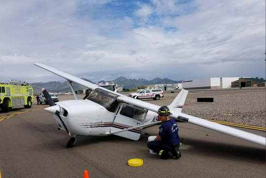 An aircraft had to make an emergency landing at Scottsdale Airport, forcing the airport to close temporarily.
