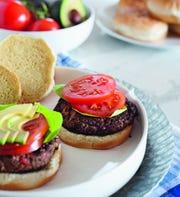 The black bean veggie burger from Michelle Dudash.