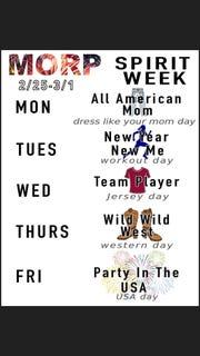 Perry High School's 2019 Spirit Week themes