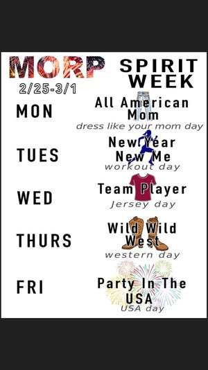 Perry High School's 2019 Spirit Week themes