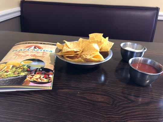 Free chips and salsa are provided with your menus when you're seated at Plaza Azteca restaurants.