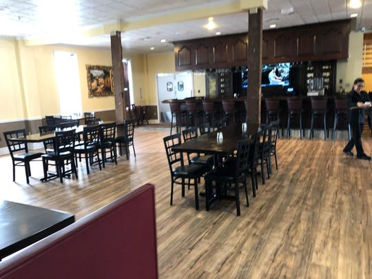 A look at the remodeled upstairs inside the former Lantern Lodge restaurant turned Plaza Azteca.