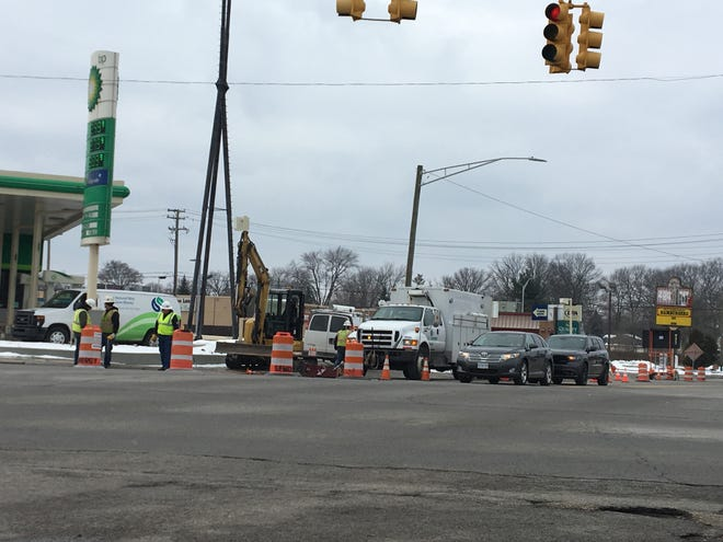 Part of Hancock Street on the west side of Pine Grove Avenue in Port Huron was expected to be closed the afternoon of Saturday, March 2, 2019, while Semco Energy crews performed maintenance on site.