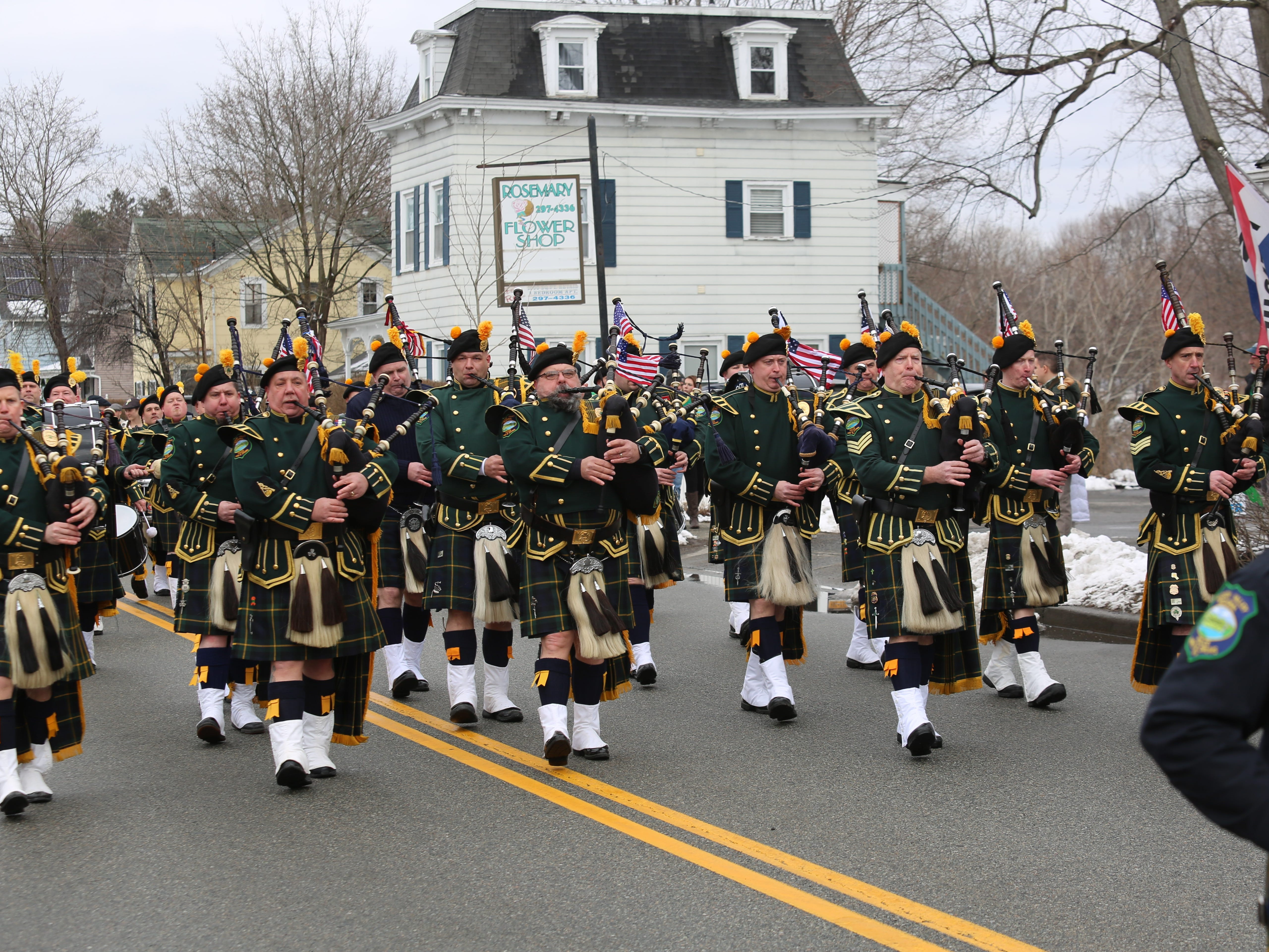 A scene from the 24th annual Dutchess County St. Patrick's Day Parade held in Wappingers Falls.
