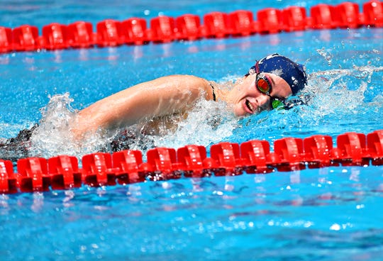 West York's Meghan French won the 500 free at the District 3 swimming championships on Saturday. Dawn J. Sagert photo