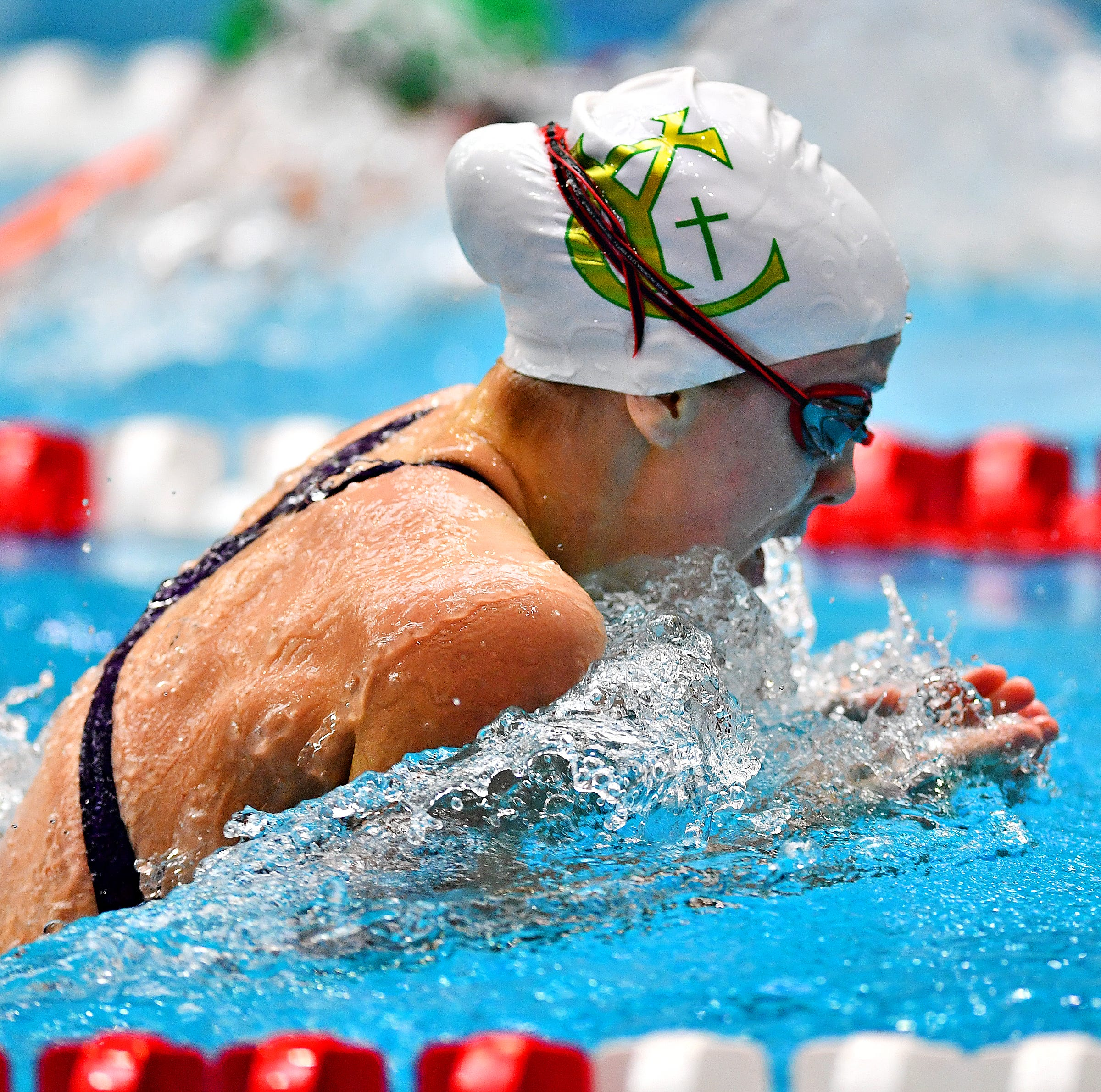 McMurray wins first gold medal in York Catholic history at District 3 swimming championships