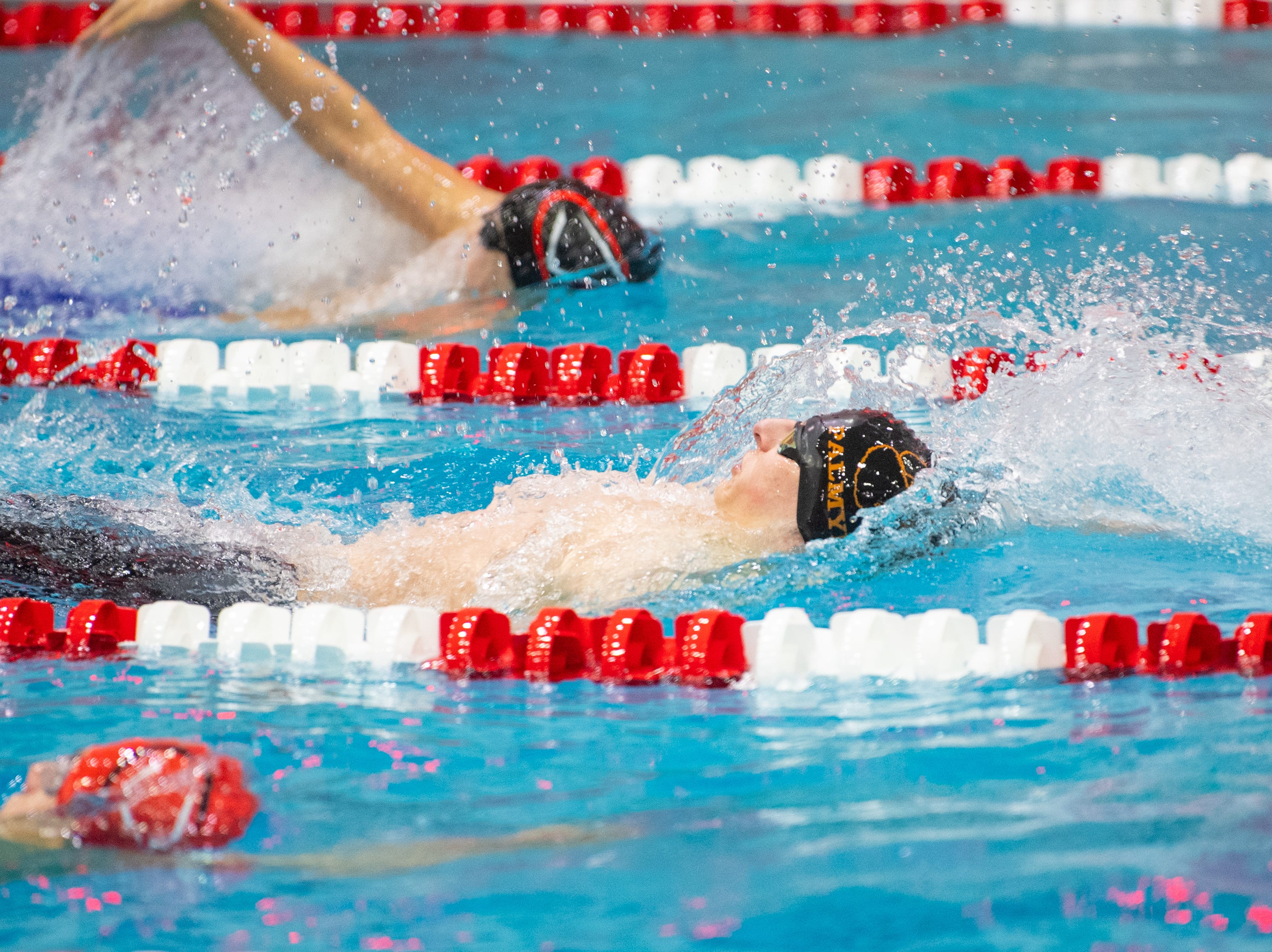 Connor Durand of Palmyra competes in the Boys 200 Yard IM during the PIAA District 3 Boys AAA Championship, March 1, 2019 at Cumberland Valley High School.