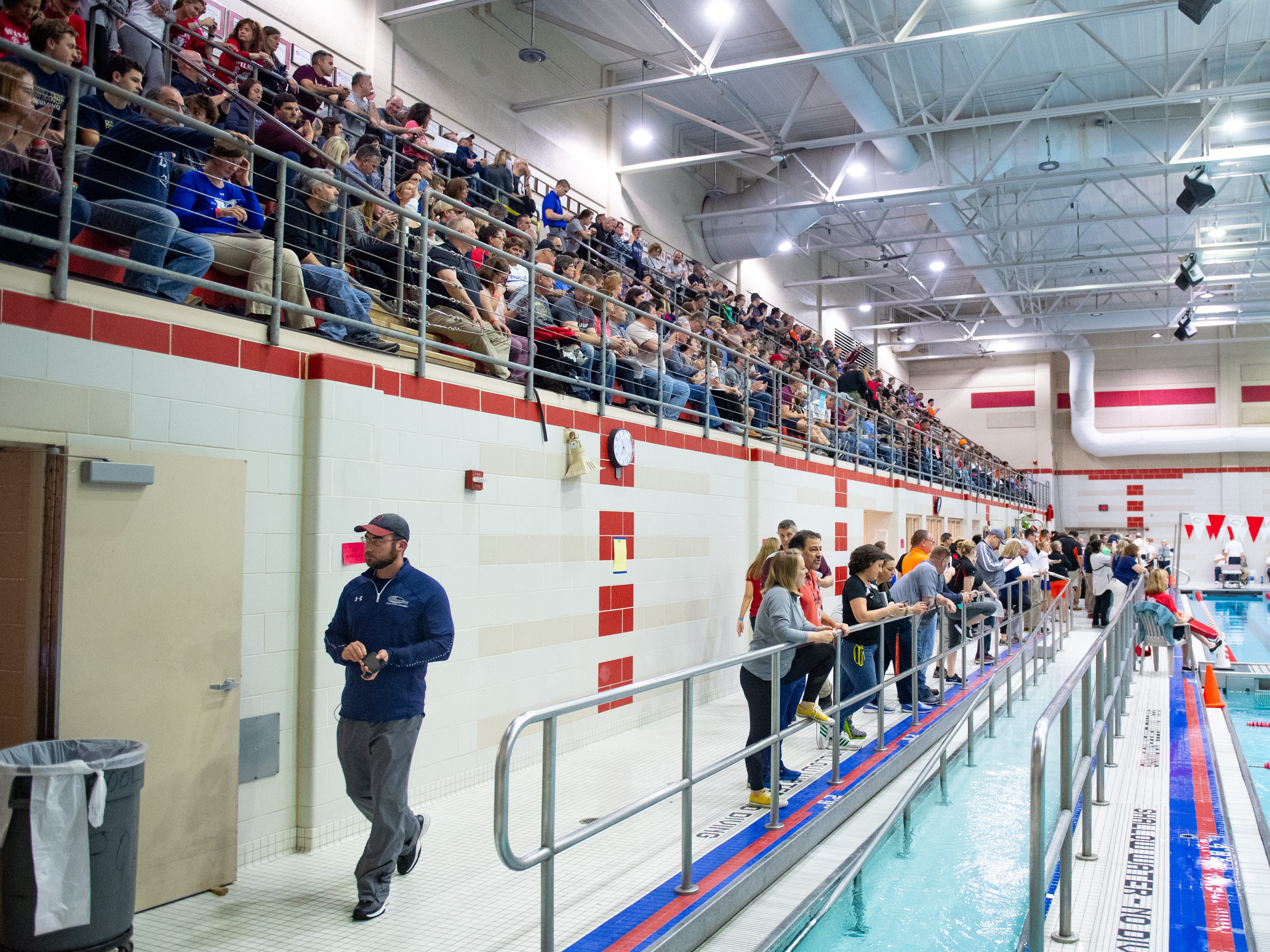 The upper deck has standing room only during the PIAA District 3 Championships, March 1, 2019 at Cumberland Valley High School.