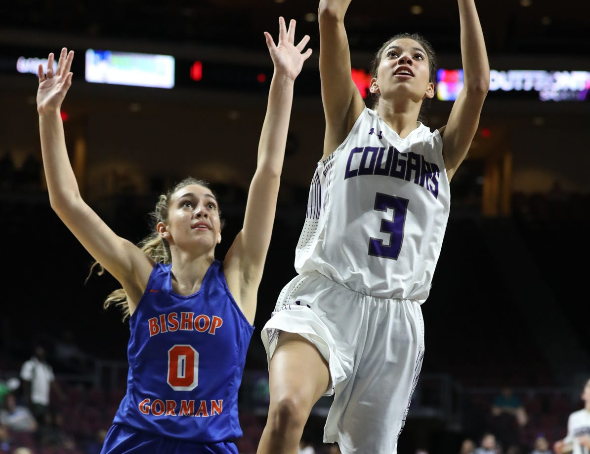 Spanish Springs' Jada Townsell goes up to the basket in the fourth quarter against Bishop Gorman on Thursday.
