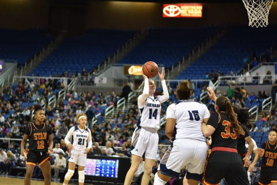 Delaney Gosse plays against Stanislaus State