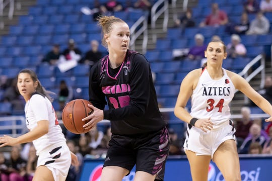 Kristin Dearth plays against San Diego State last month.