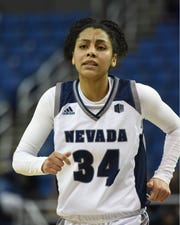 Nevada's Jade Redmon during the Fresno State game at Lawlor Events Center on Jan. 12.