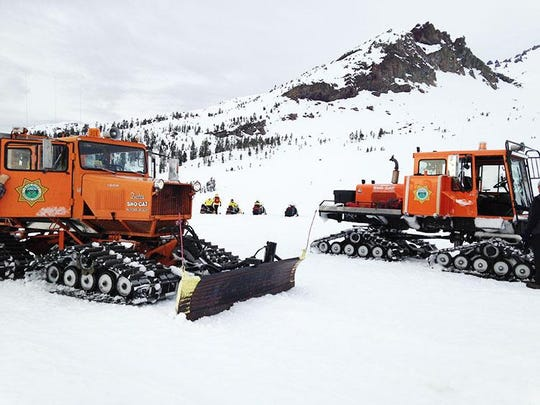 Siskiyou County Search and Rescue file photo depicting Sno-Cats.