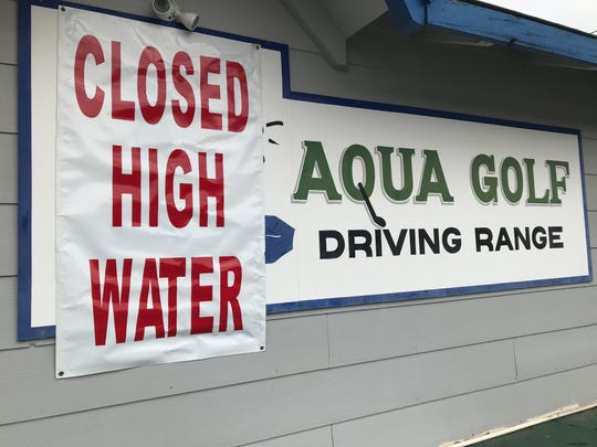 High water in the Sacramento River kept the Aqua Golf Driving Range closed Saturday, March 2, 2019.