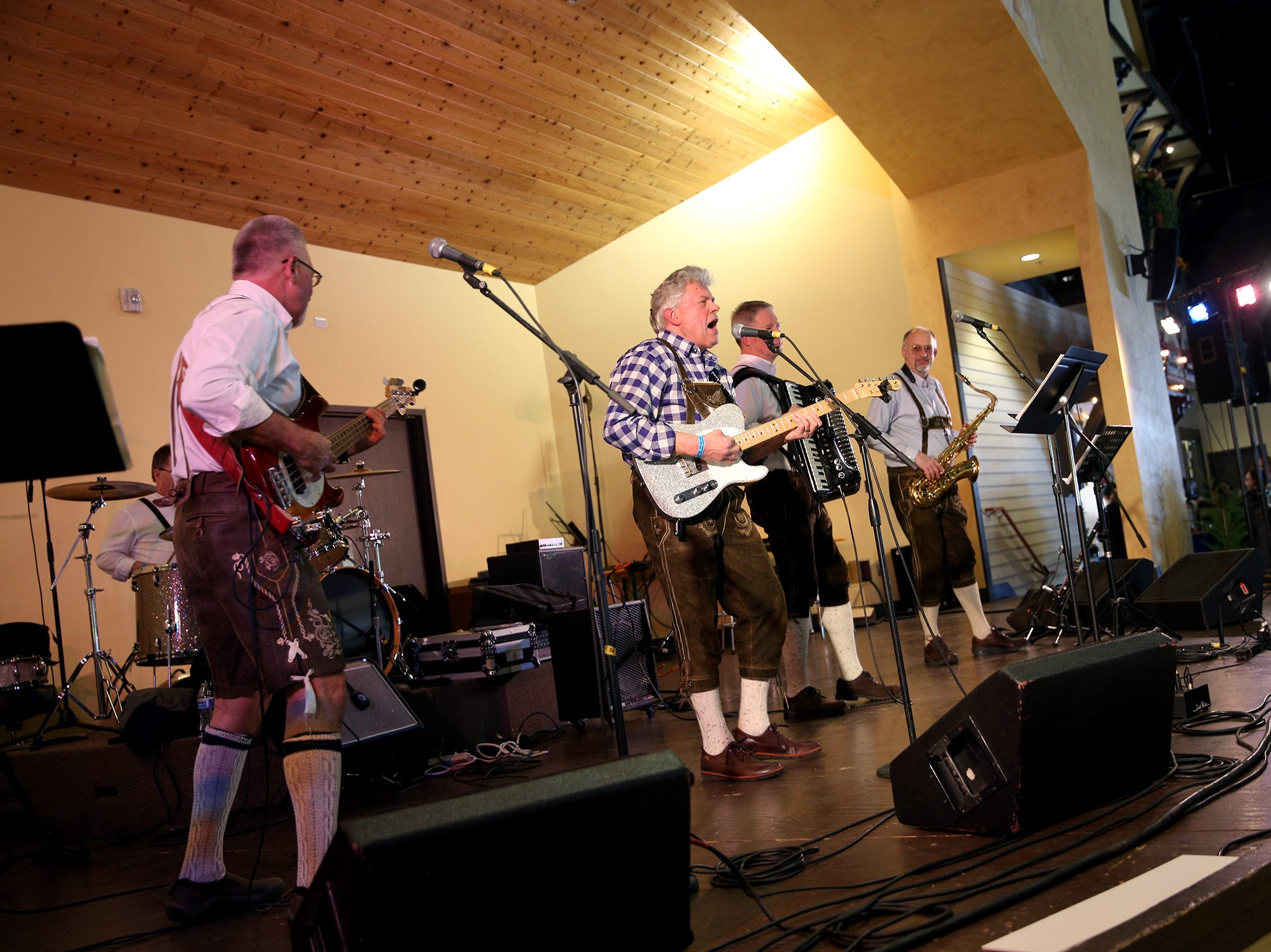 Doppelbock performs at Volksfest in Mt. Angel on Saturday, March 2, 2019. The festival celebrates Mt. Angel's heritage with food, live German music, dancing, games and demonstrations.