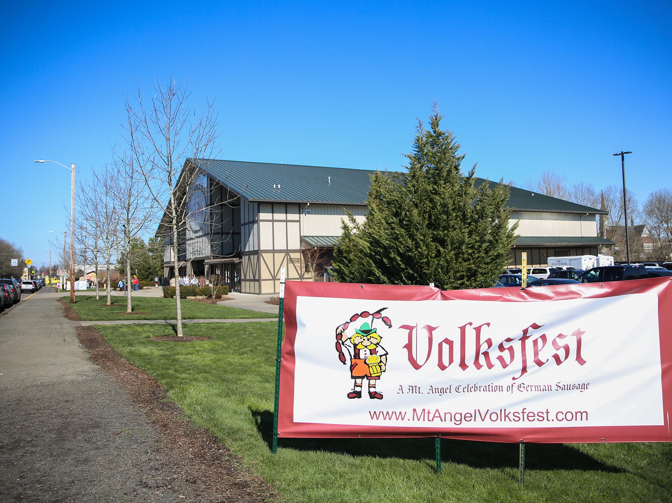Volksfest, formerly called Wurstfest, is celebrated with food, live German music, dancing, games and demonstrations at the annual Volksfest in Mt. Angel on Saturday, March 2, 2019.
