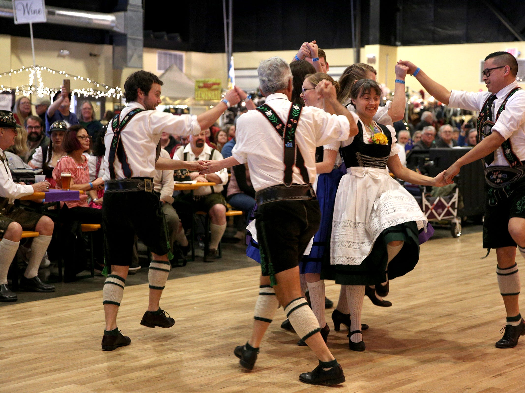 Tirolean Dancers, a traditional dance group based in Portland, perform at the annual Volksfest in Mt. Angel on Saturday, March 2, 2019.