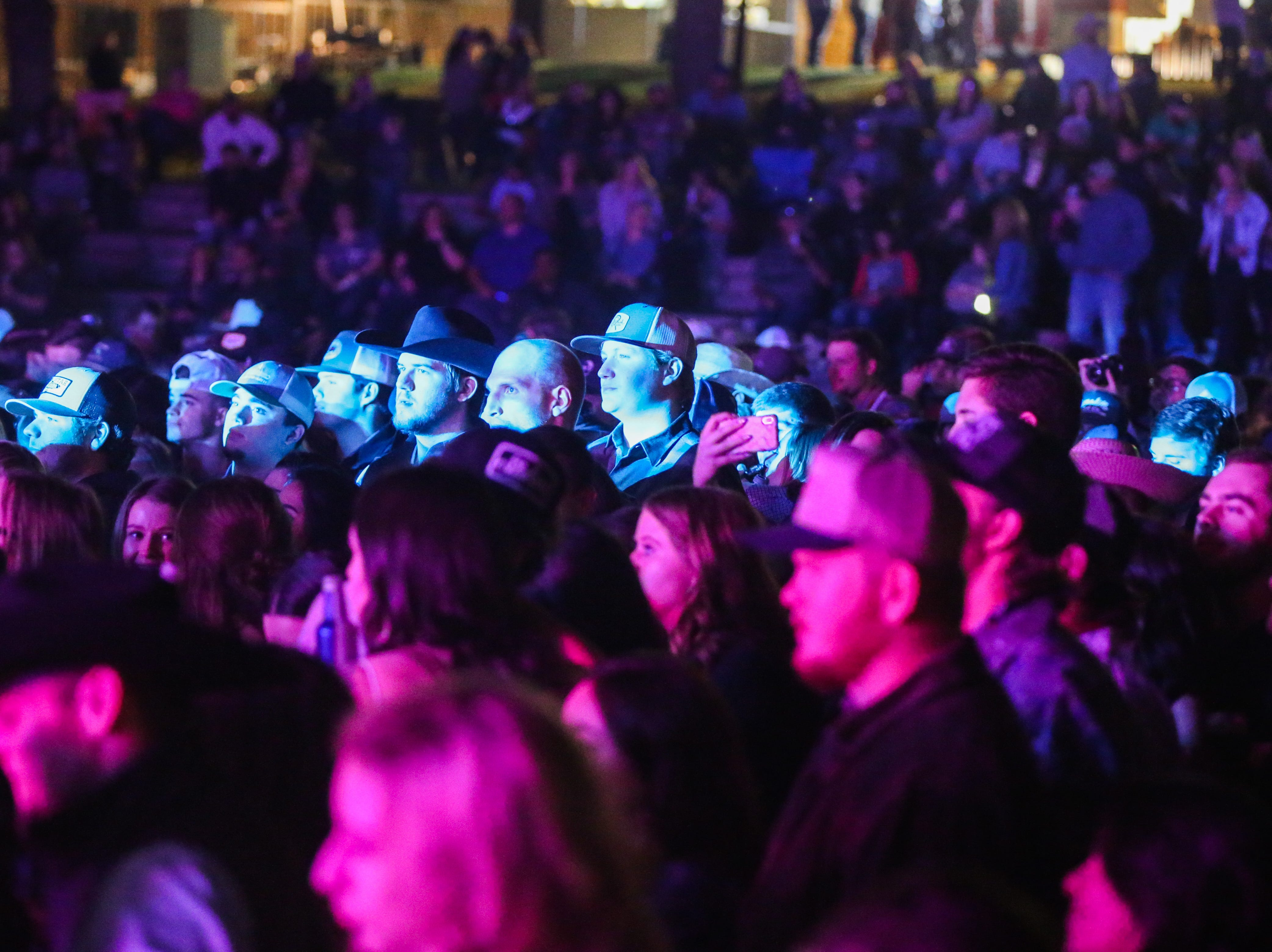Fans listen to Flatland Cavalry perform during Wild West Fest Friday, March 1, 2019, at the Bill Aylor Sr. Memorial RiverStage.