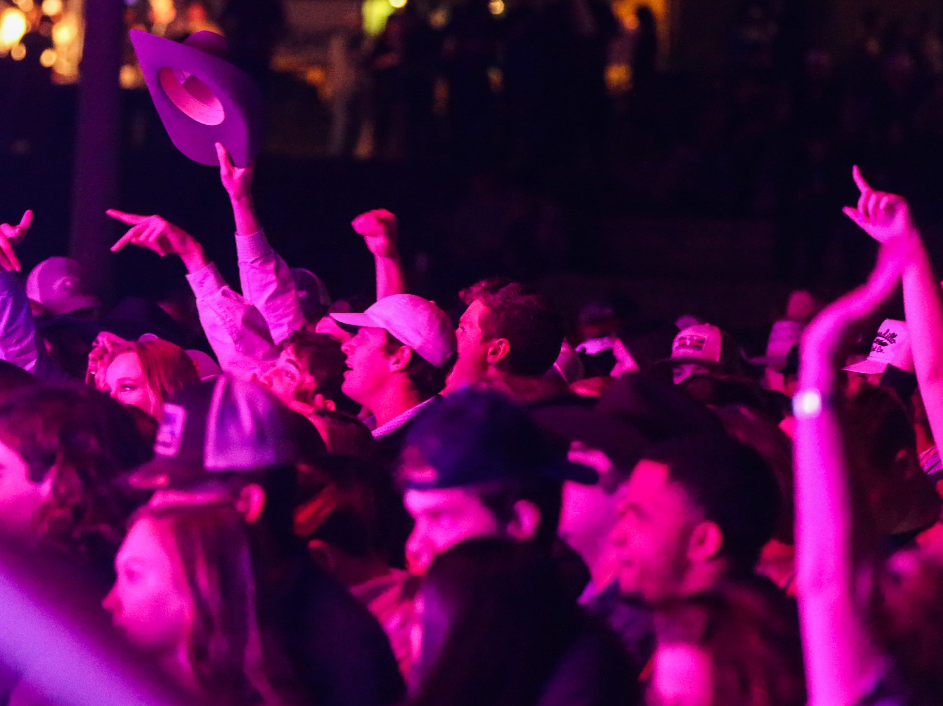 Fans sing along to Flatland Cavalry during Wild West Fest Friday, March 1, 2019, at the Bill Aylor Sr. Memorial RiverStage.