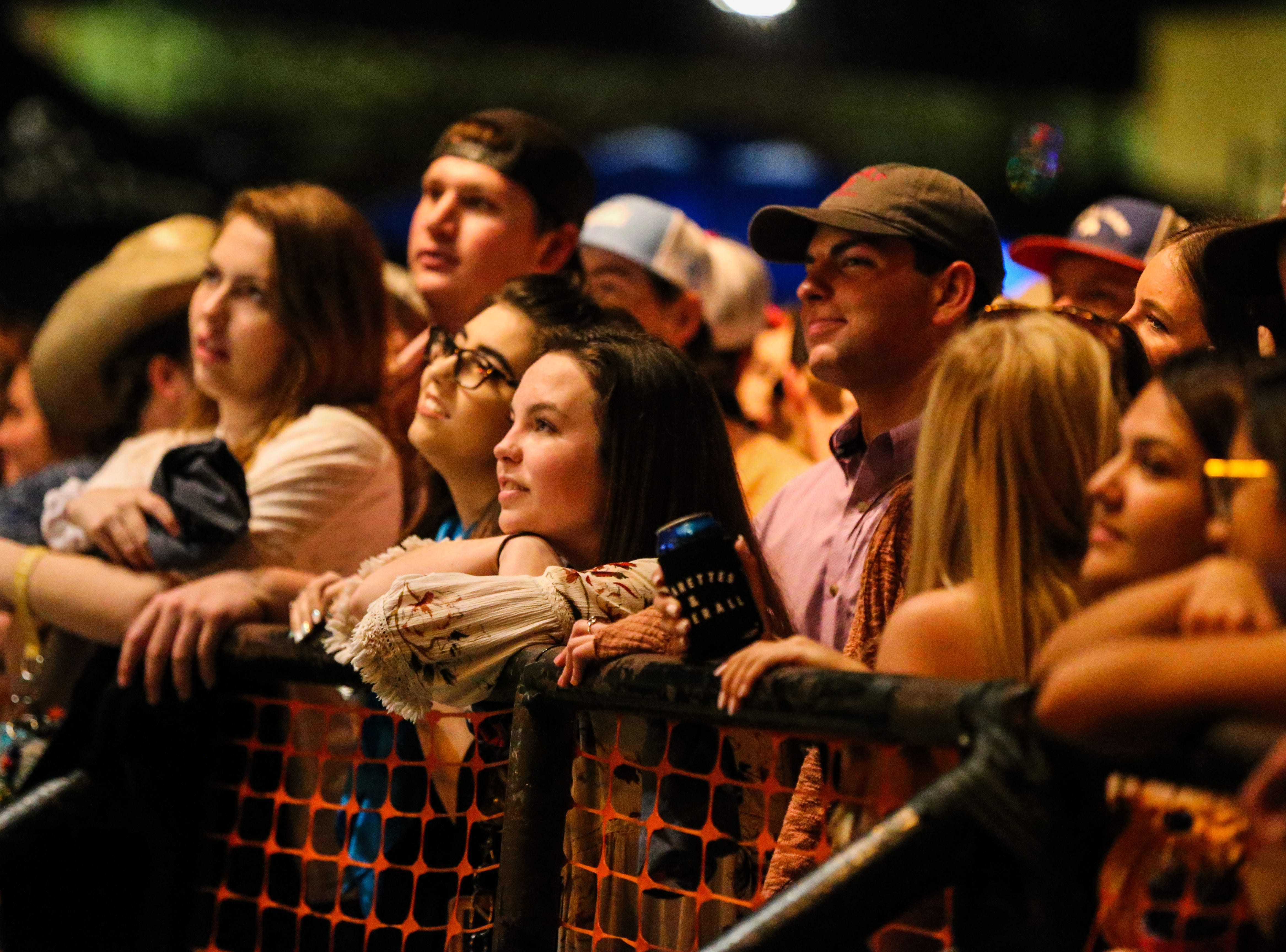 Concert goers wait as Flatland Cavalry gets ready to perform during Wild West Fest Friday, March 1, 2019, at the Bill Aylor Sr. Memorial RiverStage.