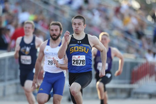 Dell Rapids native Zach Schroeder enters his senior season as a sprinter at SDSU.