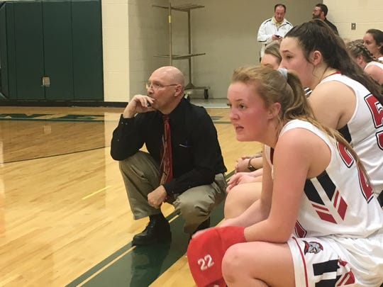 Riverheads coach Gene Wassick and his team watch as the Gladiators advance to the state semifinals with a win over West Point Friday.