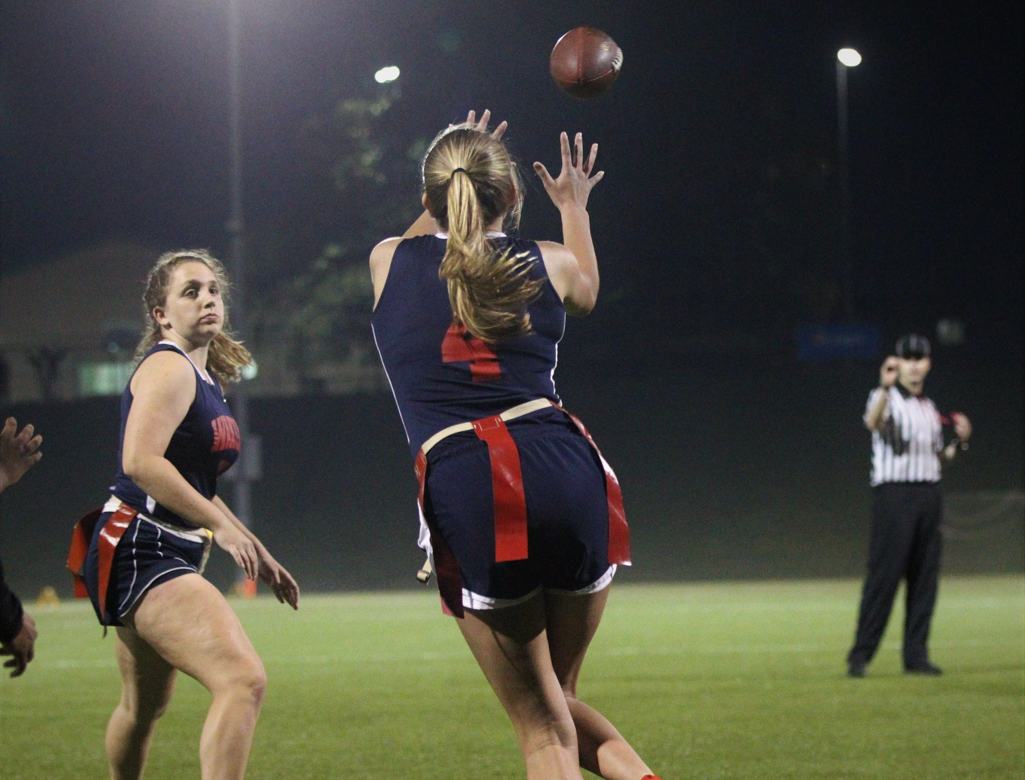 Wakulla and Gadsden County play during the 2019 flag football preseason classic at Florida A&M's intramural turf fields on Feb. 27, 2019.