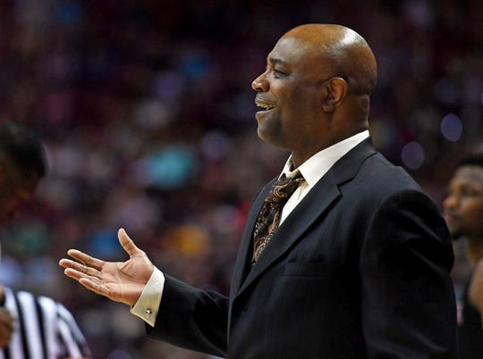 Mar 2, 2019; Tallahassee, FL, USA; Florida State Seminoles head coach Leonard Hamilton during the first half against the North Carolina State Wolfpack at Donald L. Tucker Center. Mandatory Credit: Melina Myers-USA TODAY Sports